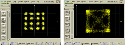 Image showing Discovery's DP-16QAM and DP-QPSK Constellation