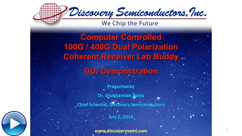Computer Controlled 100G-400G Dual Polarization Coherent Receiver Lab Buddy GUI Demonstration